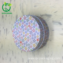 Small round tin box with lids